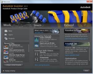Нов интерфейс в Inventor 2013